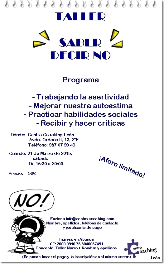 taller saber decir no CC OK!!
